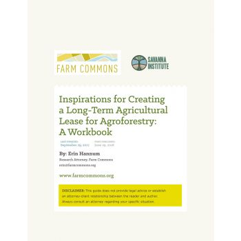 Inspirations for Creating a Long-Term Agricultural Lease for Agroforestry: A Workbook